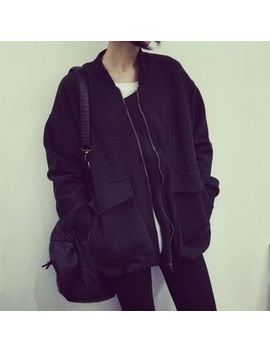plain-bomber-jacket by eva-fashion