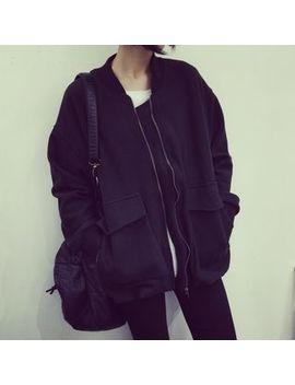 plain-bomber-jacket by eva-fashion