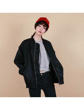 vintage-vender---loose-fit-zip-up-flight-jacket by vintage-vender