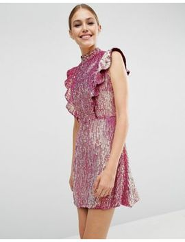 asos---robe-courte-à-sequins-avec-volants by asos-collection