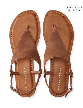 prince-&-fox-triangle-o-ring-t-strap-sandal by aeropostale