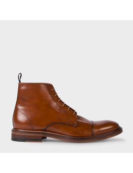 Men's Dip Dyed Tan Calf Leather 'jarman' Boots by Paul Smith