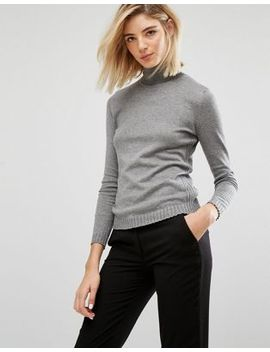mango-ribbed-side-knitted-roll-neck-sweater by mango