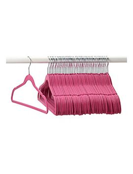 livingquarters-50-pk-pink-garment-hangers by livingquartersmore