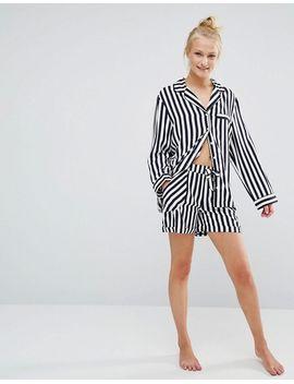 chelsea-peers-striped-short-shirt-pyjama-set by chelsea-peers