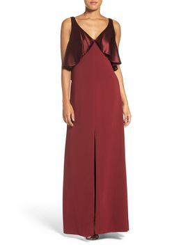 satin-&-crepe-popover-gown by jill-jill-stuart