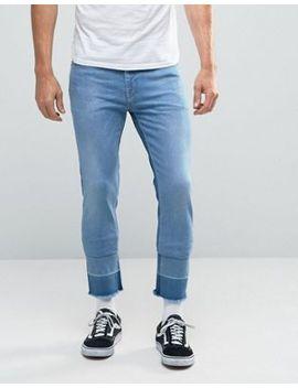 asos-–-knöchellange,-enge-jeans-in-mittlerer-waschung by asos
