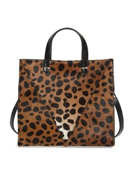 petit-simple-leopard-print-genuine-calf-hair-tote by clare-v