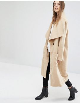 religion-drape-front-dresser-textured-coat by religion