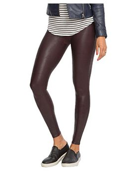 spanx-womens-ready-to-wow!¿-faux-leather-leggings-wine-medium by spanx