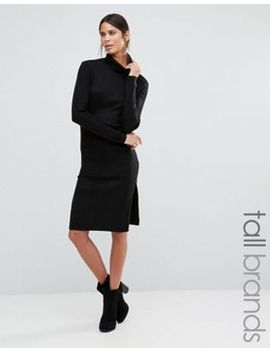 vero-moda-tall-long-sleeve-rollneck-dress by vero-moda-tall