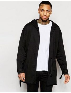asos-super-longline-hooded-cardigan-with-strap-detail by asos