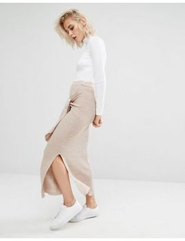 river-island-studio-knitted-tie-waist-skirt by river-island