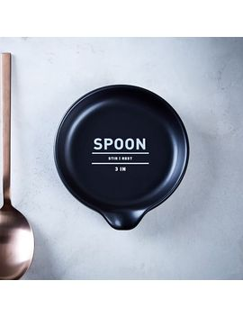 utility-spoon-rest---black by west-elm