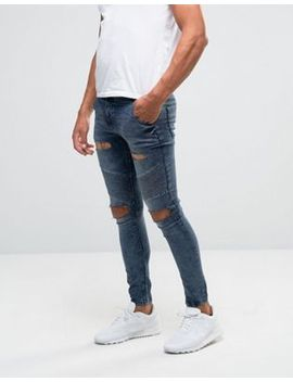 siksilk---jean-motard-skinny-à-déchirures-extrêmes by siksilk