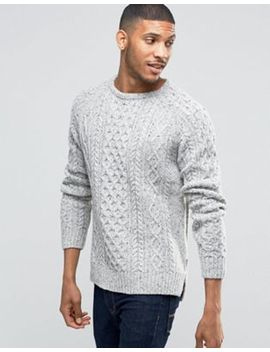 bellfield-flecked-cable-knitted-sweater by bellfield