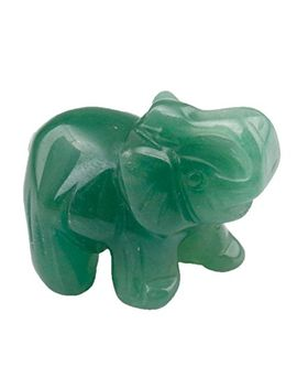 shanxing-elephant-figurine-crystal-gemstone-carved-statue-healing-energy-ornament-gifts-and-decor-15-inches(pack-of-5) by shanxing
