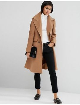 asos-wool-blend-skater-coat-with-raw-edges by asos-collection
