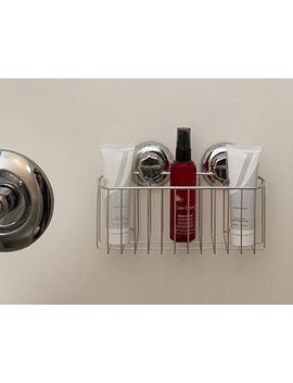 maxhold-no-drilling_suction-cup-deep-corner-storage-basket---vaccum-system---stainless-steel-never-rust---for-bathroom-&-kitchen by maxhold