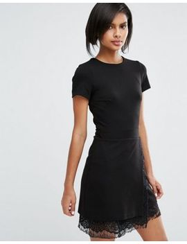french-connection-lula-stretch-shift-dress-with-lace by french-connection