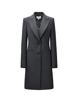 women-carine-wool-blended-long-jacket by uniqlo