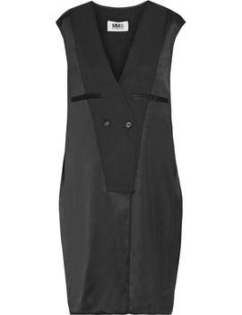 twill-trimmed-satin-dress by mm6-maison-margiela