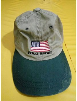 polo-sport-ralph-lauren-baseball-cap-size-small-(kids)-flag-logo-vintage by rrboyz