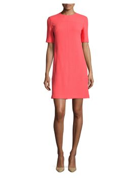 half-sleeve-tunic-dress,-coral by lela-rose