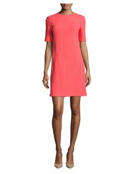 half-sleeve-tunic-dress,-coral by lela-rose