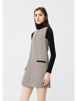 two-pocket-check-dress by mango