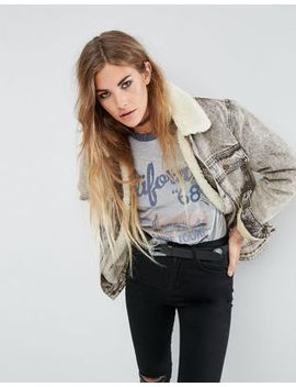asos-denim-borg-jacket-in-acid-wash by asos-collection