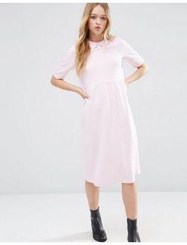 asos-peter-pan-collar-smock-structured-dress by asos-collection