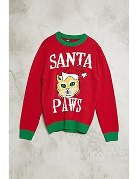 santa-paws-cat-sweater by forever-21