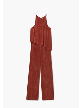 pleated-jumpsuit by mango