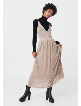 metallic-thread-dress by mango