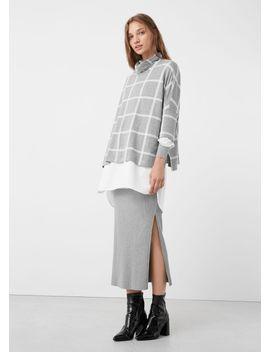 check-sweater by mango