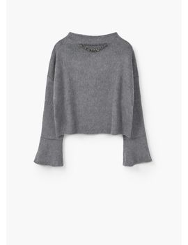 chain-textured-sweater by mango