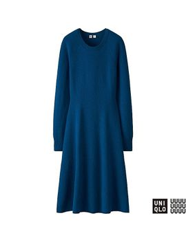 women-u-cashmere-blend-fit-and-flare-dress by uniqlo