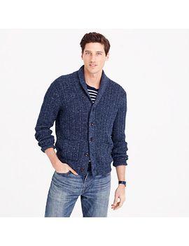 cotton-mariner-shawl-collar-cardigan-sweater by jcrew