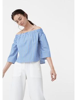 off-shoulder-poplin-blouse by mango