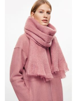 fringed-mohair-scarf by cos