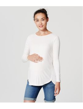 maternity-seamed-shirttail-tee by loft