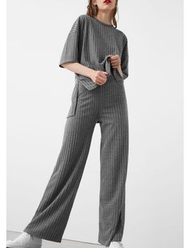 ribbed-trousers by mango