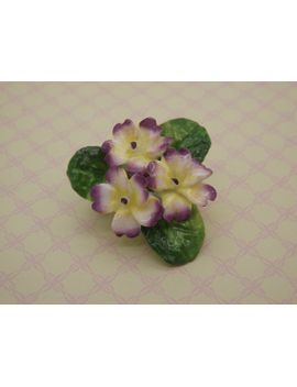 a-superb-period-english-china-staffordshire-made-vintage-jewelry-flower-brooch-of-hand-modeled-&-painted-porcelain-viola-group-of-flowers by vintagejewelleryetc