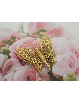 a-beautiful-signed-monet-opened-wing-butterfly-filigree-pierced-openwork-design-vintage-jewelry-brooch-in-goldtone-metal by vintagejewelleryetc