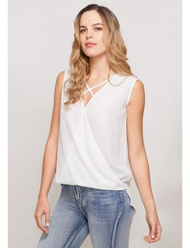 sadie-hi-lo-surplice-woven-blouse by alloy