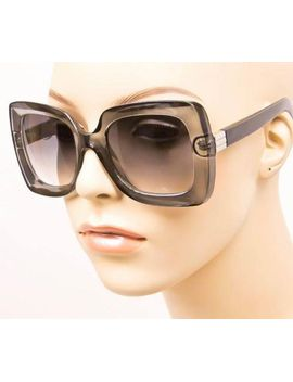sexy-large-square-gray-transparent-black-arms-fashion-glasses-sunglasses-6027 by fashion