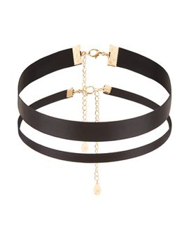 2-x-ribbon-choker-pack by accessorize