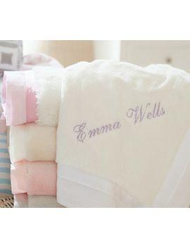 linen-sateen-trimmed-faux-fur-baby-blankets by pottery-barn-kids