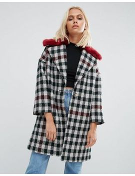 helene-berman-fur-collar-coat-tweed-check-with-red-fur by coat